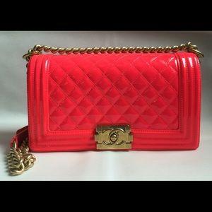 CHANEL Bags - Chanel Medium Patent Boy Bag